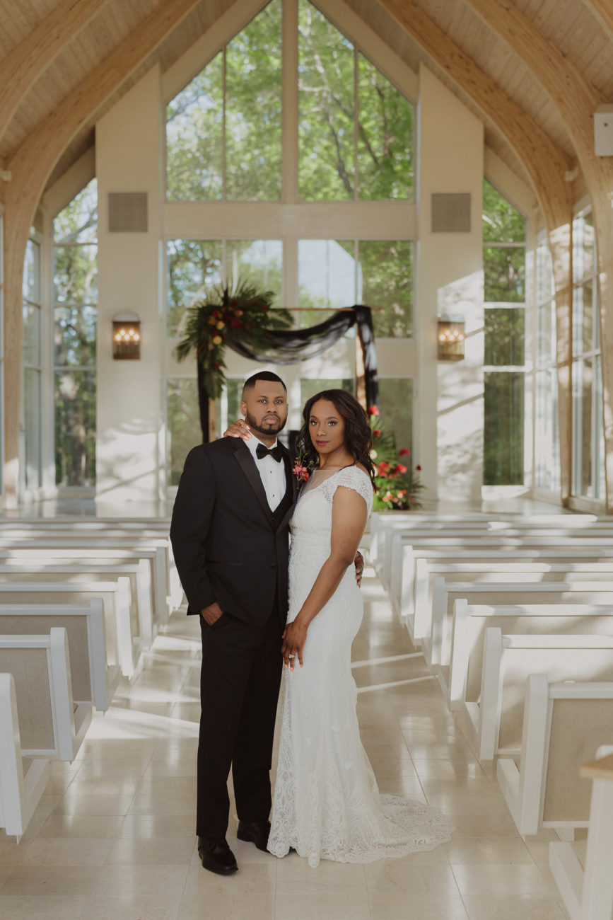 glass-chapel-black-wedding-couple-tulsa-photographer