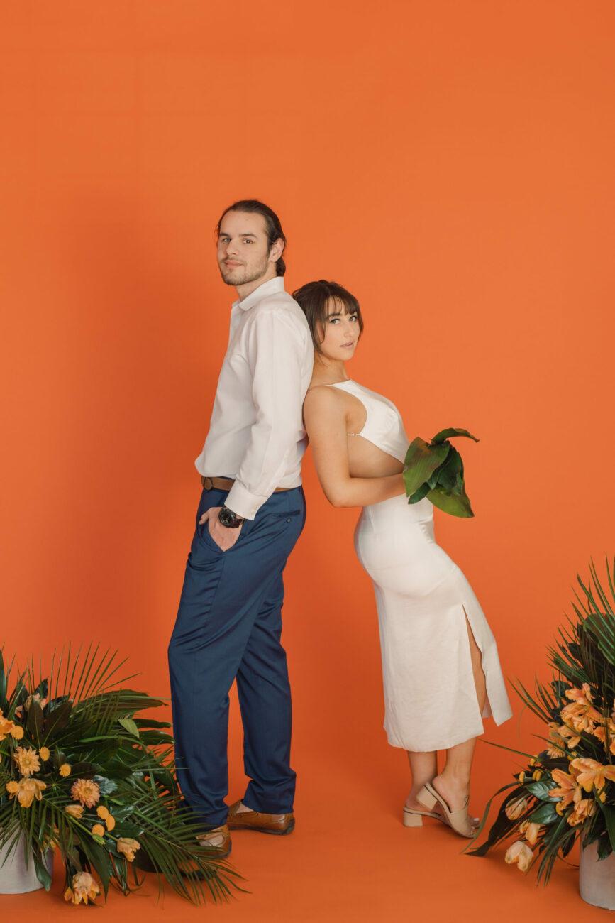 luxury-engagement-session-orange-studio-couple-photos-tropcial-florals-wedding-elopement-destination